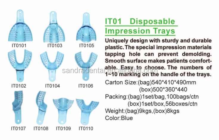 Best selling dental impression tray price