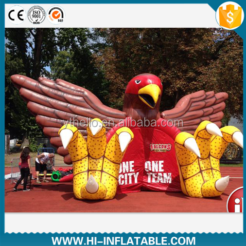 Newest brand football Inflatable eagle,hawk tunnel for sport team /inflatable tunnel tent