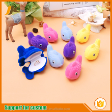 Wholesale Custom fish shape cartoon gift box animal shape ring earrings jewelry box