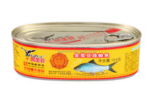 Alimento pez, Fried Dace with Salted Black Beans canned food, home can, with HACCP