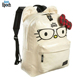 Hot selling print hello kitty nerds pattern canvas cute school backpack for girls