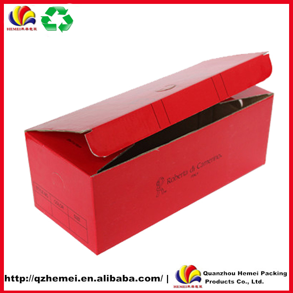 Custom printed corrugated cardboard shoe boxes