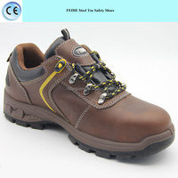 brand trendy genuine leather steel toe cap safety shoes