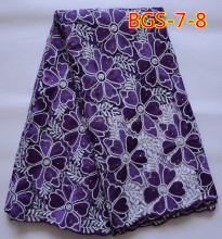 Lovely purple embroidery guipure lace fabric for garment accessories BGS-7-8