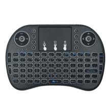 New Hot Sell 2.4GHz Mini Wireless Keyboard With Touchpad, Multi-media Remote Control And Touchpad Function Handheld Keyboard