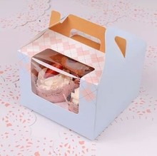 Fancy carry gift packaging bakery cupcake paper boxes