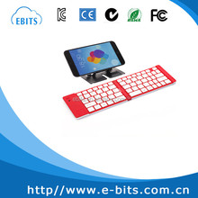 Black & White folding mini wireless bluetooth keyboard for android iPad iPhone