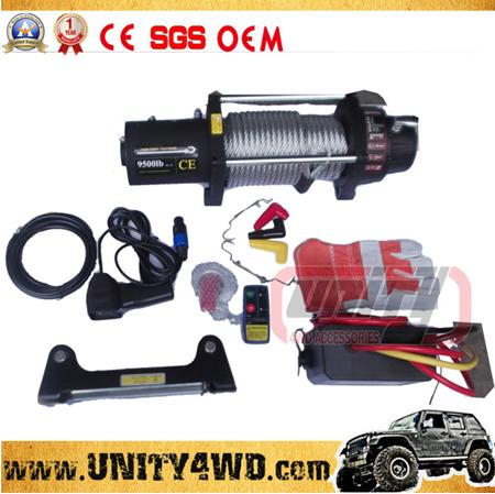 12000lb CE approved 12v car winch with wireless remote control