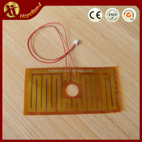 24V battery powered heating element, flexible heater polyimide heaters film 24V,thin film heating element
