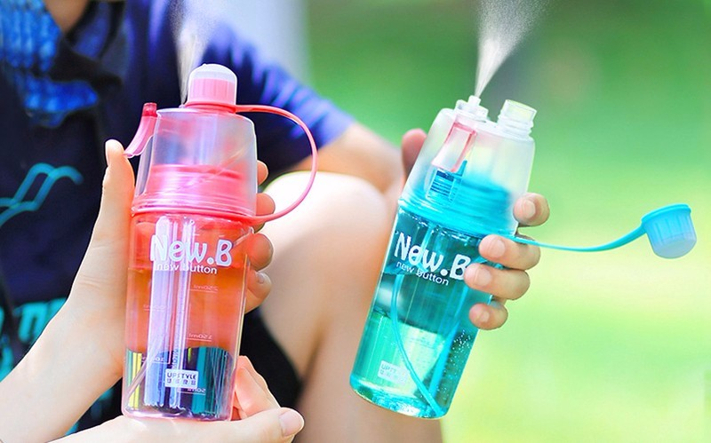 Sports Spray Water Bottle Dual-use Bpa Free Bottle For Water Fashion Plastic Cups
