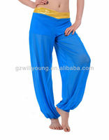 comfortable hot selling turquoise belly dance pant