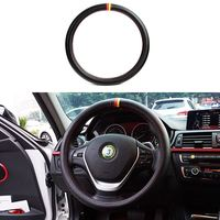 Best Selling 37-38cm Car Accessories Interior Universal Protector Case Germany Flag Carbon Fiber Steering Wheel Cover