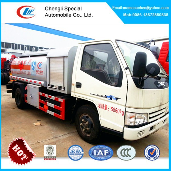 Gasoline gas delivery truck JMC oil transport truck aviation fuel truck for sale 6000L