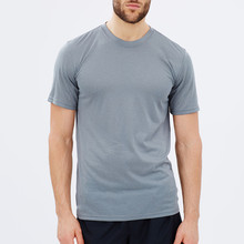 mens 100 polyester athlete tumbled grey color t shirt