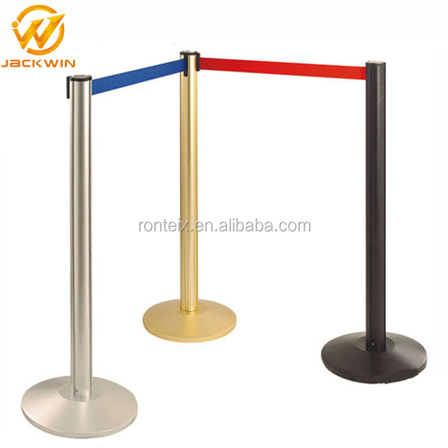 Stainless Steel Crowd Control Stanchion / Rope Bollards