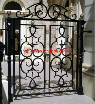 2017 Top-selling modern wrought iron home entry gate