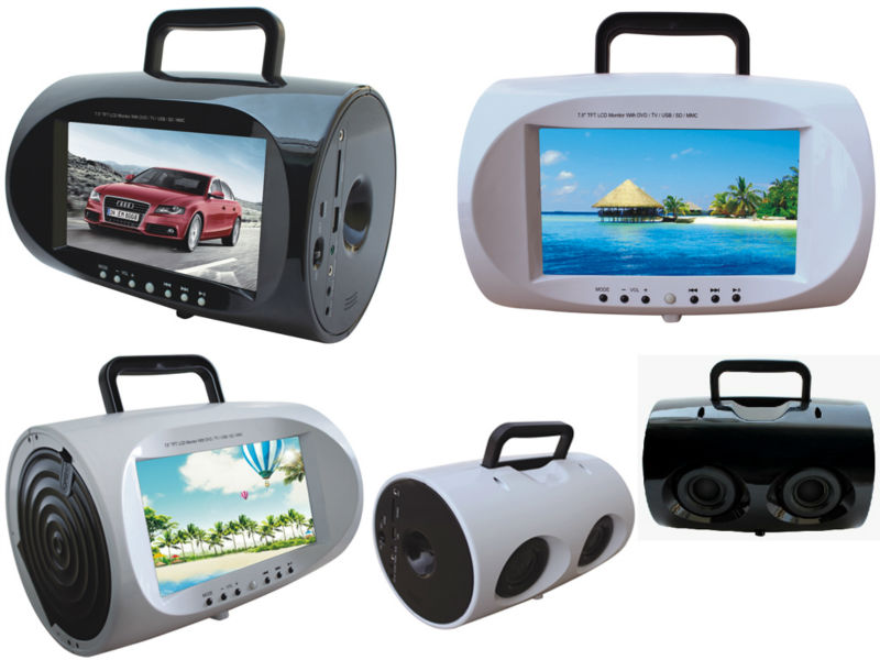 super anti shock 9 5 portable boombox dvd player with av. Black Bedroom Furniture Sets. Home Design Ideas