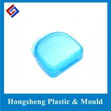 Transparent dental denture holder box with basket