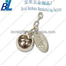 Nickel bell ornament for retractable phone strap