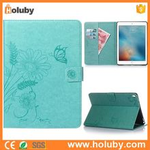 China Wholesale Flower Pattern Magnetic Flip Stand TPU+ PU Leather Tablet Cover Case for iPad Pro 9.7 inch
