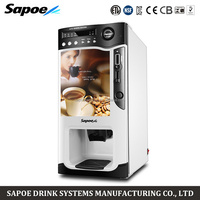 SC-8703BD commercial coins operated fully automatic coffee machine sapoe