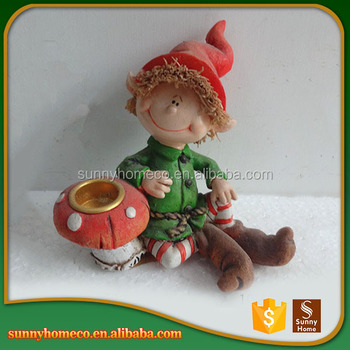 Factory Custom Design Garden Folk Art Resin Baby Christmas Gift For Sale