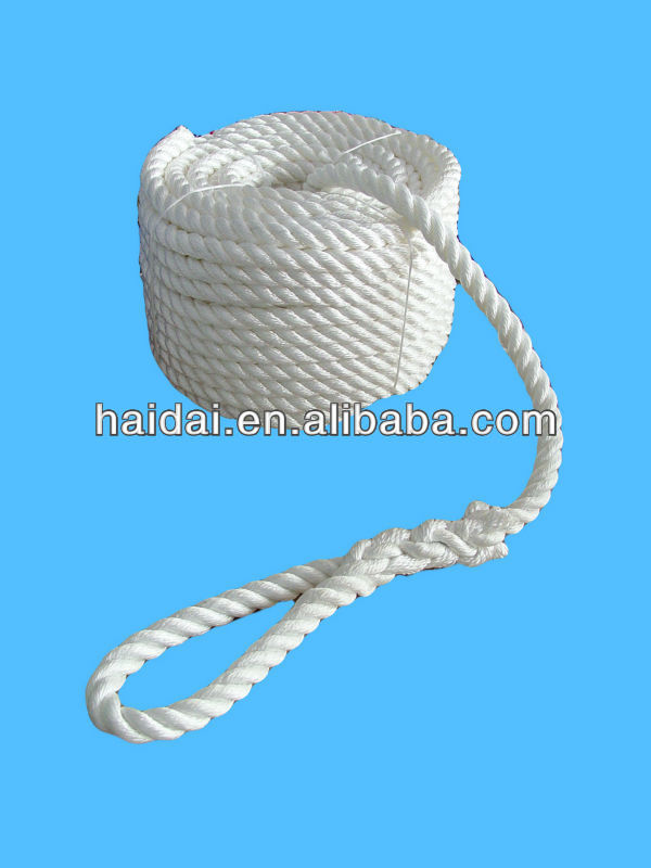 8mm white Polypropylene twisted rope ---3 Strand / 4 strand