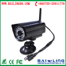 Dual Audio IR Night Vision Monitor CCTV Network IP Camera