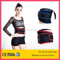 elastic neoprene heating waist belt sports waist support trimmer / belly reducing belt