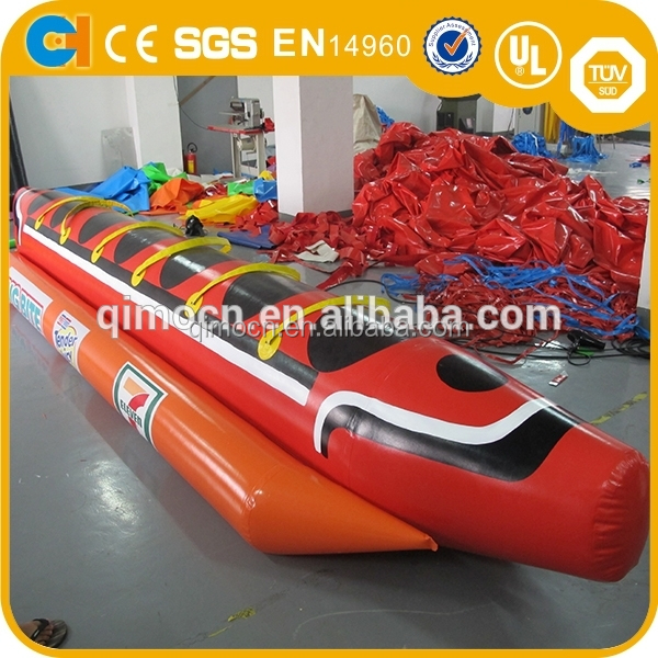 2016 Funny inflatable banana boat,Colorful inflatable flyfish boat for water Game,Customized 6 Seat inflatable Banana boat