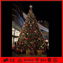 Holiday mall Xmas outdoor artificial giant trees with lights