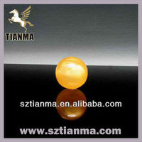Wholesale high quality yellow acrylic ball for kids gift