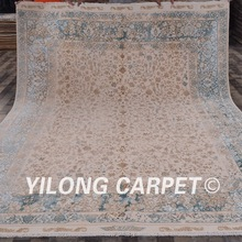 8.3'x10.5' Chinese carved wool rugs persian style floral handknotted silk wool carpet