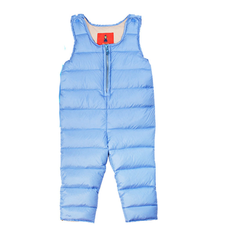 Winter white duck down baby Siamese thickened climbing clothing cold strap snowsuit new born wholesale carters baby clothes