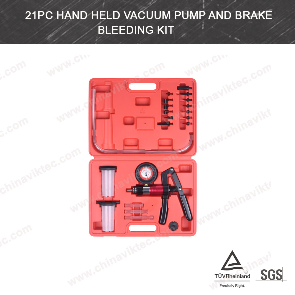 Automotive tool Hand Held Vacuum Pump And Brake Bleeding kit(VT01047)
