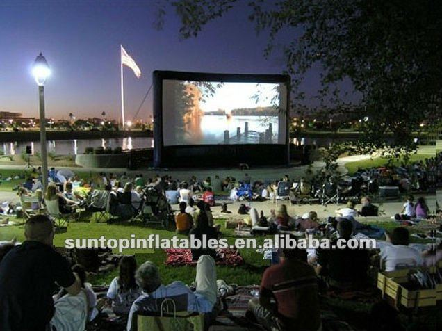 high quality inflatable film screen with good view