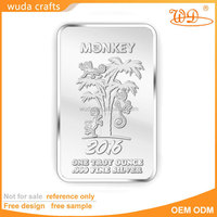 wholesale business gift customized fine .999 pure silver 10 troy ounce bar coin solid silver plated 1 oz souvenir bullion bars