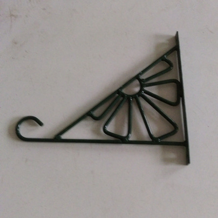Beautiful and practical, wrought iron metal shepherd's hook