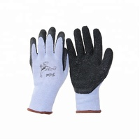 10 gauge polyester/cotton crinkle latex coated gloves latex work