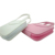 9pcs nail kit ivroy white and pink color tote hand bag design manicure set in pouch