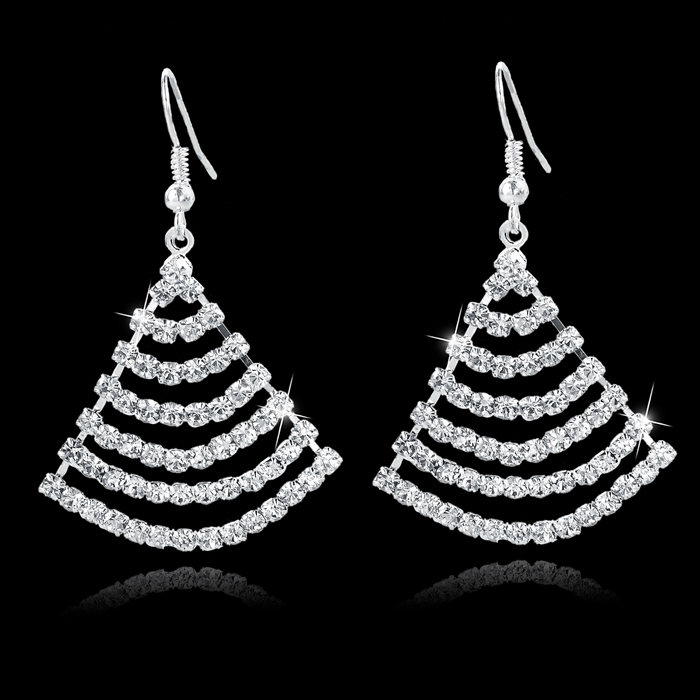 Fashion Earring Wholesale Luxurious Diamonds Drop Earring For Girls