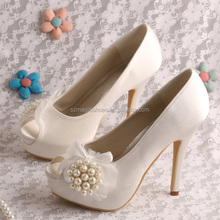 (20 Colors)Platform Heeled Shoes Nude Pumps Bride