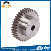 Steel Material Type B Hub Straight Standard Size Spur Gears