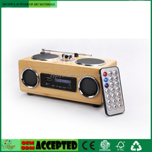 Hi-Fi Bamboo Mini Speaker Bluetooth Wireless Control With FM Radio
