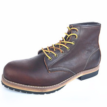 leather men casual boots high quality work boots <strong>safety</strong>