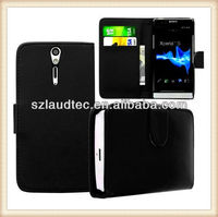 BLACK BOOK PU LEATHER FLiP CASE COVER WALLET HOLSTER FOR SONY XPERiA S LT26i