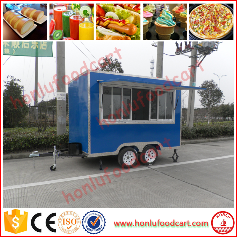 Commercial fried mobile food trailer car food cart/bike food cart with CE