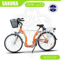 latest style 36v 250w city e bike aluminum