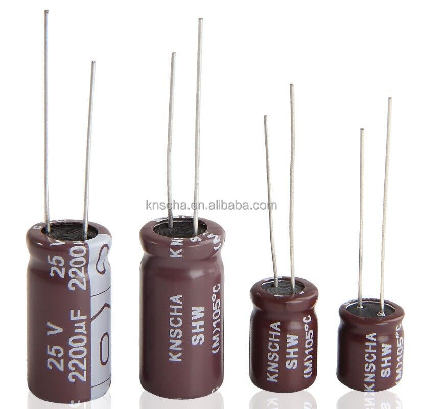 KNSCHA Electrolytic Capacitor 22UF 35V with size 5*11mm,widely used in LED Lighting
