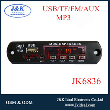 JK6836 Best price mp3 usb sd fm radio with aux led display for car audio